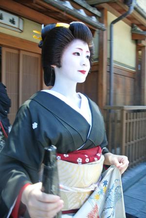 Geiko,Mameharu san of Gion-Kobu at Hanami-Koji