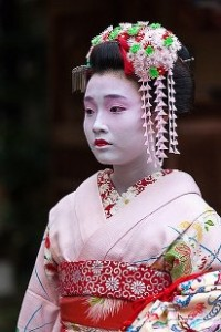 Maiko,Mameroku san of Gion-Kobu