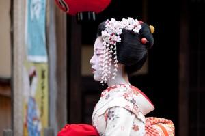 Maiko,Katsutomo san of Gion-Kobu