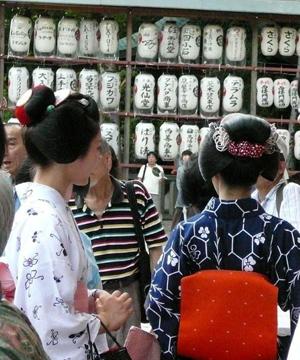 Maiko in Yukata